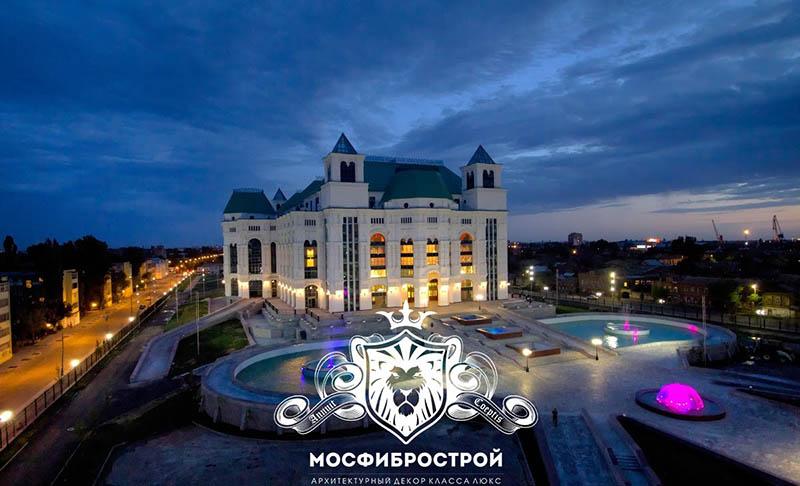 На картинке запечатлён Астраханский Театр